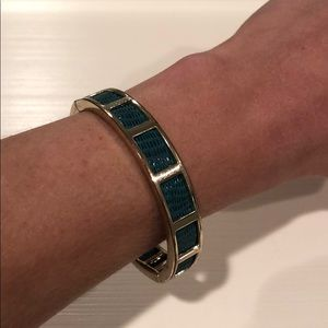 Turquoise and Gold Clasp Bracelet